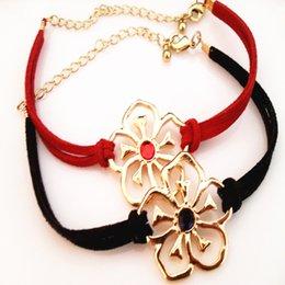 Wholesale European cortex flowers fashion infinite good luck bracelet