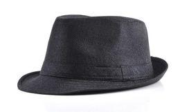 Wholesale-2016 Linen sun hat Jazz England Men's hats Fedora women cappelli chapeau vintage femmesombrero 6 color male jazz hat top hat