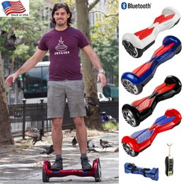 Wholesale Self Balancing Wheels Smart Scooters Electric Skateboard Hoverboard Bluetooth Remote Bag inch Two Wheel USA Warehouse Dropshipping