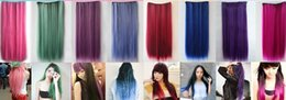 Wholesale Color wig harajuku hair piece A chip five card straight gradient hair piece Long straight hair piece