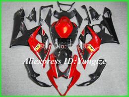 2015 motorcycle fairing kit for SUZUKI GSXR 1000 05 06 GSX-R GSXR 1000 K5 2005 2006 Fashion red trim parts
