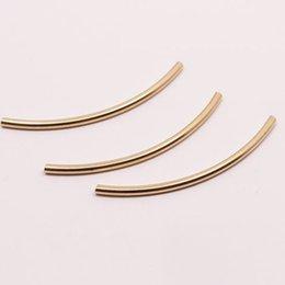 30 * 2 mm Tubo espaciador de los granos suave curva de tubo conectador de la pulsera decorativa componentes collar del brazalete de la joyería de fabricación de la decoración kit de bijoux desde conector de tubo de pulsera fabricantes