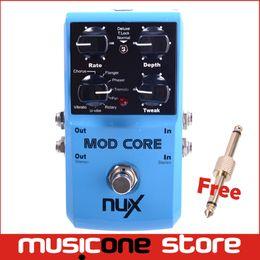 Efectos de modulación en Línea-NUX todo en un MOD de la base de la guitarra de la AMP Efecto Pedal 8 efectos de la modulación Envío libre MU0156