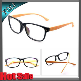 Wholesale Vintage Style Wooden Plain Eyeglasses Antique Eye Glasses PC Women Men Optical Frame Myopia Computer Glasses Frame