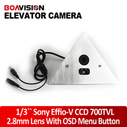 Wholesale 1 quot SONY EFFIO V DSP WDR CCD TVL Hidden º Corner Elevator Camera Vandal Proof mm OSD Menu ir Lux