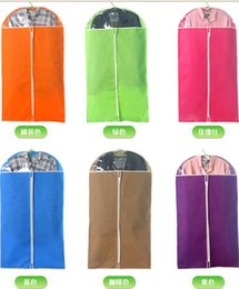 Wholesale 5 Hot Sale New Arrival Best Price Clothes Suit Dress Garment Dustproof Cover Bag Storage Bags Thicken Bag Clips Housekeeping
