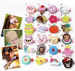 Wholesale 48 Styles Baby Girls Hair Accessories Hairpins Kids Flower Alligator Hair Clips Handmade Princess Headwear Cute Cartoon Hair Ornament