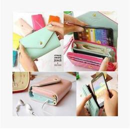 Wholesale Crown Pouch Flip - 200pcs CCA3034 High Quality Donbook Crown Smart Pouch Purse Coin Bag Flip PU Leather Case Women Wallet For IPhone 4S 5S 6 plus Samsung S6