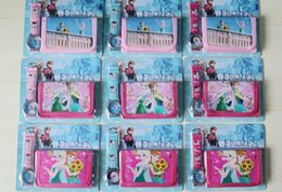 Wholesale Frozen Anna Elsa Sets Watch and Wallet Purse Kids Fashion Quartz Cartoon Candy Cute Lovely Boy Girl Lady Children Christmas gift
