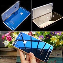 Descuento iphone vidrio de alta calidad Efecto del espejo de la alta calidad 9H de la parte posterior delantera + Back Efecto vidrio templado protector de la pantalla para el iPhone 6 6S más el paquete al por menor 5S