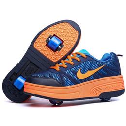 nouveaux enfants roller deux sneakers enfant chaussures casual enfants haute qualit roue automatique garons filles roller patins chaussures taille 30 40