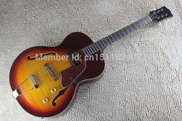 2017 guitarra corte envío libre Guitarra libre del cuerpo del hueco de la guitarra eléctrica del semi- guitarra corte envío libre baratos