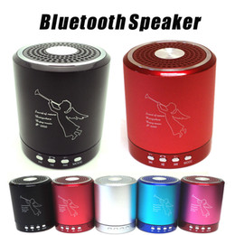 Wholesale T2020A Angel bluetooth Speaker Card USB Speaker computer phone MP3 player metal material with MIC DHL Fedex