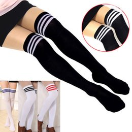 Wholesale 2015 Womens Girls Sexy Cotton High Socks Thigh High Hosiery Stockings Over The Knee Stockings Thigh Highs