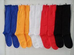 Wholesale 5pcs Solide Color Unisex Knee High Football Sock Cotton Elastic Lacrosse Sport Long Stocking EBX