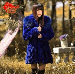 Wholesale-Free Shipping Genuine Rabbit Fur Coat long natural rabbit fur jacket Women Winter Rabbit Fur Waistcoat plus size