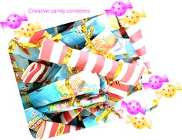 Wholesale Ultra thin Creative candy condoms Creative Gifts Hardcover candy condoms Single Pack Adult Sex products Retail Wholesal