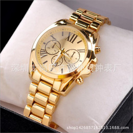 Wholesale Hot Watches Led Watch Mens Business Stainless Steel Metal Belt Rome Dial Gold Watch Fashion Womens High grade Quartz Watches
