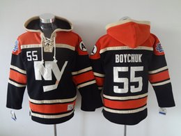 New York Islanders #55 Boychuk Hockey Hoodies Black Hockey Jackets New Ice Hockey Uniforms Lace Up Winter Hockey Hoodies