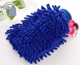 500pcs! car wash Double sided microfiber Snow Neil fiber high density car wash mitt car wash gloves towel
