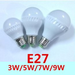 New E27 LED Bulbs Globe Bulbs Lights 3W 5W 7W 9W SMD 2835 LED Light Bulbs Warm Pure White Super Bright Light Bulb Energy-saving Light Lamp