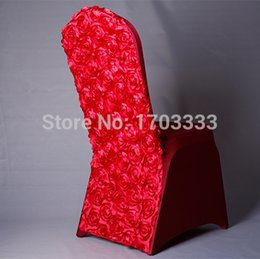 Red Rose Satin And spandex chair cover 2015 New white spandex chair cover Dining Renovation Chair Covers For Weddings