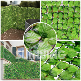 Wholesale 1mX3m artificial hedge fence fake rose leaf Plastic Garden Fence Rose Leaves for garden fence chain link fence DIY PATIO DECOR G0602B002E