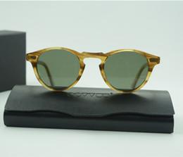 Wholesale Brand Vintage Men And Women Sunglasses Oliver Peoples Sun Glasses OV5186 Polarized Gregory Peck Glasses Retro For Man