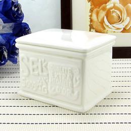 Wholesale-Contemporary and contracted sugar pot Ceramic flower tea pot Anaglyph tea pot Sugar jar of coffee sugar pot