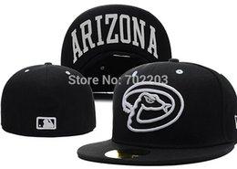 Wholesale Arizona Diamondbacks Fitted Cap Embroidered Team Logo Baseball Cap Casual Style sport Hats
