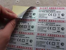 format personnalisé et le nom logo de la marque de produits électroniques PET Barcode étiquette imprimée Autocollant Muet Argent Labels Dumb Autocollants Argent à partir de etiquette électronique fournisseurs