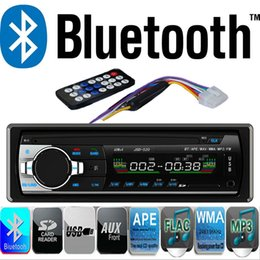 Wholesale 1 Din Car Radio Stereo Player Bluetooth AUX IN MP3 FM USB Din remote control For Iphone V Car Audio Auto Smartphone