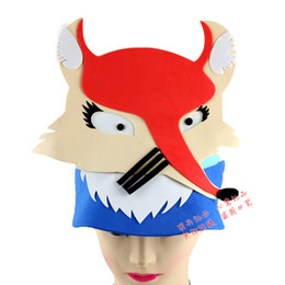 Wholesale Factory direct sale masks EVA three dimensional animal headdress nursery school performance props animal series fox hat part