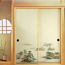 Wholesale Japanese Fusuma Door Paper Sheets Pair Washi Woodblock Decor Decorative Wall Paper Soji Sliding Door Bedroom Living Room