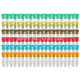 Wholesale 120pcs High Quality Multicolor Assorted Mixed Standard Car Auto Mini Blade Fuse AMP