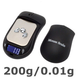 Wholesale 200g g High Precision Digital Mouse MINI Electronic Scale Jewelry Weight balance Backlight Module Pocket Scale A0033