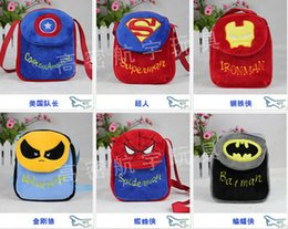 Wholesale Student Bag The Avengers preschool Backpack for little baby cm Captain American Iron spiderman superman school bags not clever cutter
