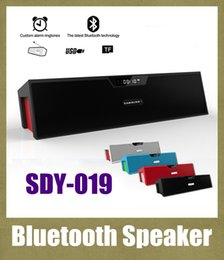 Wholesale SDY Bluetooth speaker portable Hands Free Music Player Wireless Stereo Speaker With LCD Displayer Alarm Clock Support SD TF Card MIS065