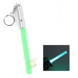 Wholesale - Flash Torch Lightsaber Keychain LED Light Glow Magic Wand Stick Pen Key Chain GF6 shopping