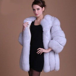 ManyFurs-Natural Genuine Fox Fur Women Coat Winter Warm Luxury Jacket Quality Supple Furs Coats