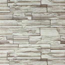 Fond d'écran d'ardoise à vendre-10Meters / lot 3D bloc / pierre / ardoise / brique de papier de mur claasic papier peint vinyle / PVC antiques papiers peints murales pour décoration intérieure