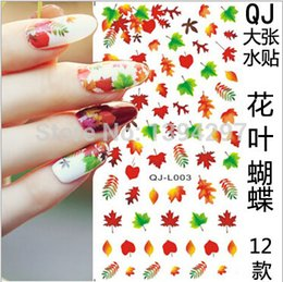 Wholesale Canada Maple leaf autumn Fall DIY Tip Nail Art Decal Nail Sticker Gel Nails Castle Bunny Butterfly Beauty Salon Vocation
