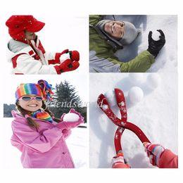 Wholesale 132pcs Winter Sports Toy Snow Ball Maker Sand Mold Snowball Maker Kids Snow Scoop EMS