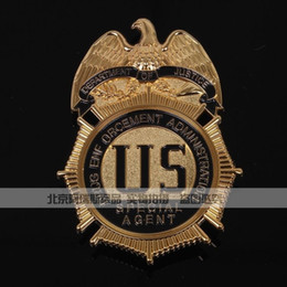 Wholesale The badge of the U S drug enforcement administration DEA copper commemorative insignia DEA