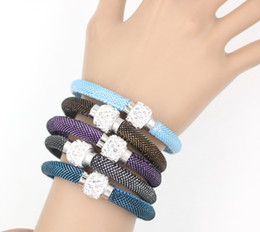 Brand New Fabric Rope Bracelet Crystal Bead Bracelet Fashion Magnetic Clasp Bracelet Wristband Jewelry