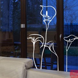 Wholesale Calla women s bedrooms living room decorated shop windows and glass door stickers window stickers affixed Tieqiang