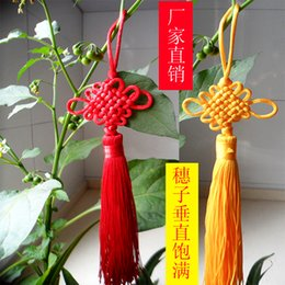 Wholesale 5pcs lot Diy accessories chinese knot tassel car lanyard car hanging tassel