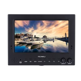 Wholesale Feelworld Professional ST702 HSD quot Broadcast LCD HD On camera Monitor for DSLR Camera Camcorder Film and TV Field Shooting DHL D2746
