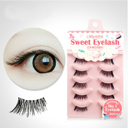 handmade lashes 30Pairs LOT handmade fake eyelashes natural thick eyelashes for the end of eys Naked false eyelashes extension lashes 104#