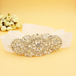 Wholesale Beading Luxury Wedding Supplies Bridal Gowns Sashes Belts Women Accessory Belt Crystal Bling Bling WWL